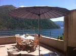 Terrace with umbrella and Lake Como View