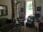 Living Room Villa Laglio For Rent