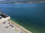 the beach in colonno lake of Como