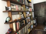 bookcase in villa for sale lake como