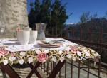 breakfast on the terrace in colonno