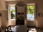 dining room in villa moltrasio