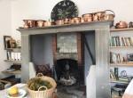 fireplace on the ground floor villa moltrasio