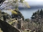 lake view behind the villa moltrasio