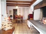 dining room with fireplace- sala da pranzo 13