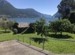 dock with garden lake como view