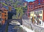 the stone roman bridge argegno