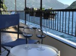 Drinking some wine on the Lake Como Apartment Brienno