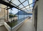 corner of the terrace in brienno