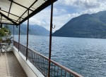 terrace with lake view in lake como