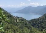 panorama from the villa for sale dizzasco lake como